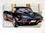 1963 CORVETTE TUXEDO-BLACK - unframed