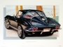 1963 CORVETTE TUXEDO-BLACK - unframed with proof of artist