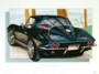 1963 CORVETTE TUXEDO-BLACK - framed with proof of artist