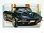 1963 CORVETTE TUXEDO-BLACK - framed