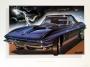 1965 CORVETTE MIDNIGHT-BLUE - framed