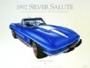 1967 CORVETTE MARINA-BLUE - framed