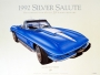 1967 CORVETTE MARINA-BLUE - framed with proof of artist