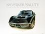 1968 CORVETTE TUXEDO-BLACK - unframed