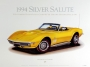 1969 CORVETTE DAYTONA-YELLOW - framed with proof of artist