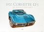 1970 CORVETTE MULSANNE-BLUE - framed with proof of artist