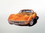 1972 CORVETTE '454' ONTARIO-ORANGE - unframed