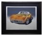 1972 CORVETTE '454' ONTARIO-ORANGE - framed