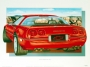 1990 CORVETTE ZR-1 - unframed with proof of artist