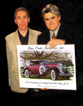 Automotive Artist Hugo Prado with Jay Leno